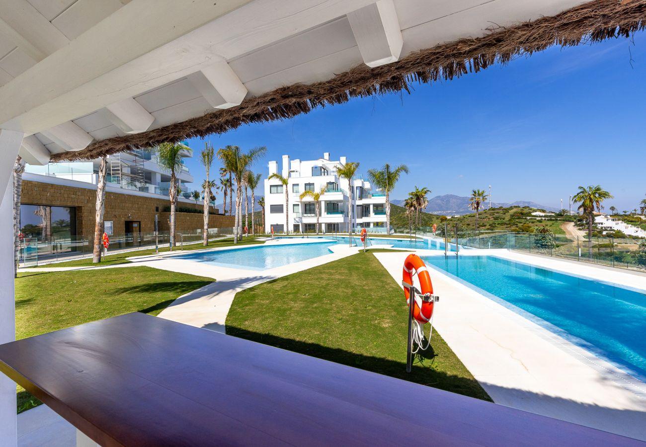 Apartamento en Mijas Costa - Santa Barbara Heights II CLC - Lujo, piscina de terraza, vista del mar